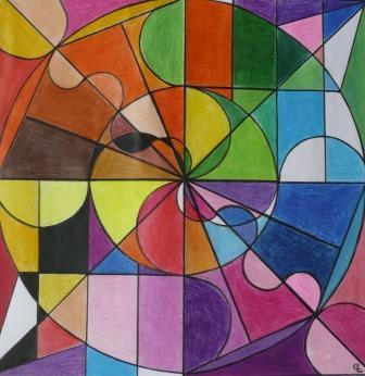 Christine lorand dessin dynamique de formes for Dessin en forme geometrique